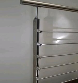 Vertical Posts For Rails Railings In Two Solid S.S. Tubes