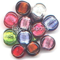 Large Size Silver Foil Beads