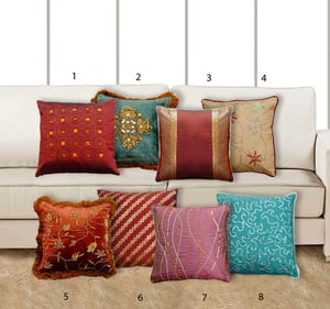 Decorative Beeded Cushion Covers