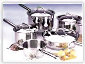 Stainless Steel Cookware With Steel Handles