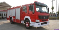 HOWO Heavy Truck Of Foam Fire Engine