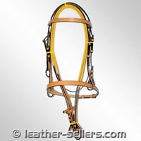 Leather Grip Snaffle Bridle