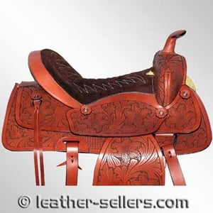 Western Saddle With Laser Embossed