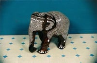 Wooden Inlaid Elephant