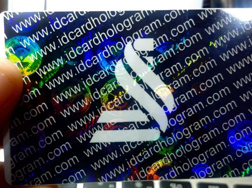 Customized Holographic Id Card Overlay