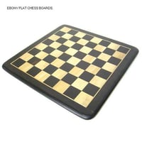 Ebony Flat Chess Boards