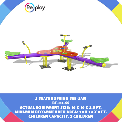 3 SEATER SPRING SEE-SAW