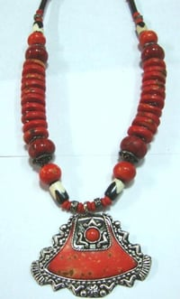 Bone And Resin Beaded Necklaces