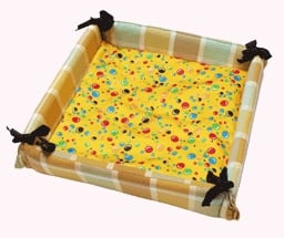 Cushioned Pet Bed With Extra Cushion