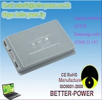 6 Cells Laptop Battery For A1078