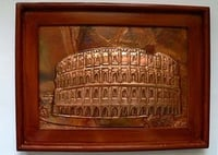 Copper Engraved Photo Frame Of Colosseum
