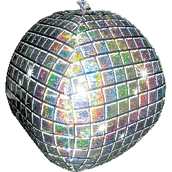 Ultra Shape Disco Ball Balloons