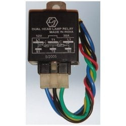 Dual Head Lamp Relay (With Short Harness)
