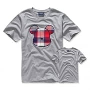 Plaid Face - Red (M/Gray) T-Shirts