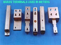 Brass Terminals Used In Meters