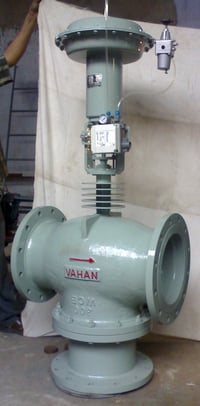 Pneumatic Operated Control Valve With Positioner