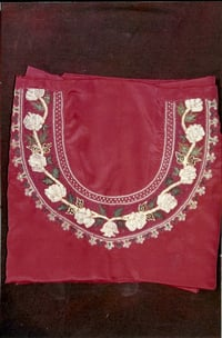 Hand Embroidery Painted Crepe Suit Length
