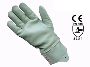 GREEN WATER REPALANT LEATHER GLOVE