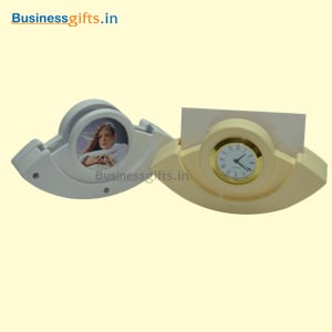 Swing Table Clock With Visiting Card Holder