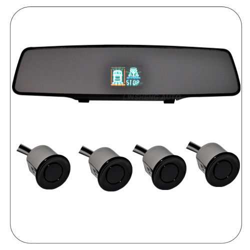 Rear-View Mirror With Built-In VFD Display And Four Rear Sensors, Suitable For Cars