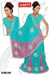 Embroided Saree fancy
