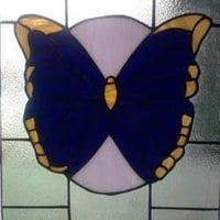 Original Stained Butterfly Glass