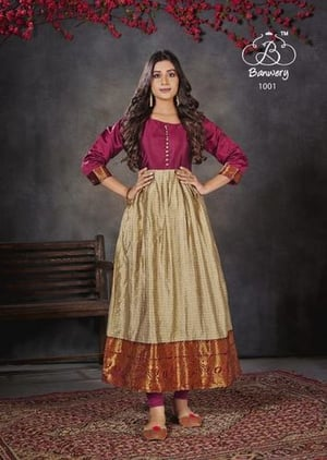 Banwery Purvaa Unstitched Ladies Suit