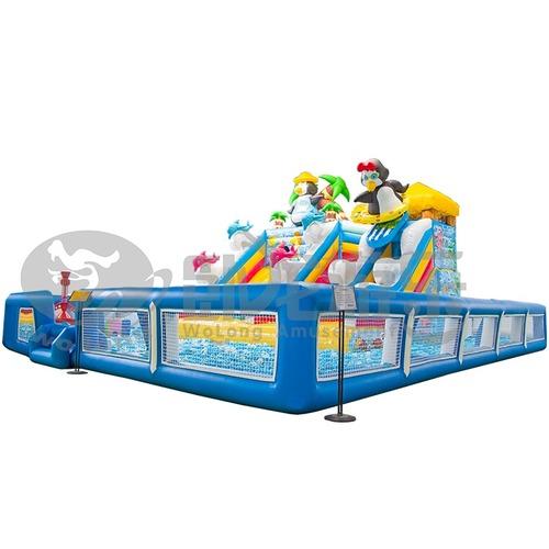 Kids Lovely Kitty Cat Inflatable Slide