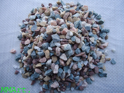 Mix Crushed Wash Marble Gravels For Landscaping And Decor Garden