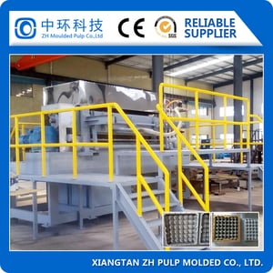 Biodegradable Full Automatic Waste Paper Recycling Egg Tray Machine