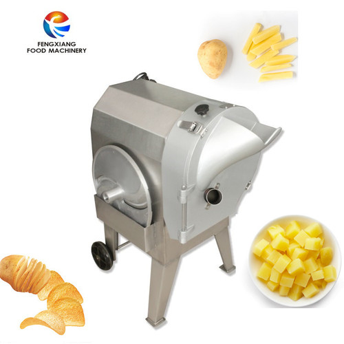 Automatic Multifunction Root Vegetable Cutting And Potato Chopping Machine