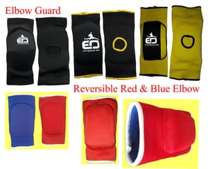 Reversible Red And Blue Elbow Guard