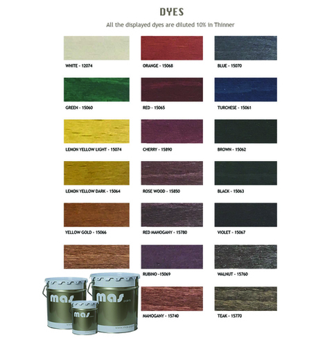Mas Concentrated Wood Dyes
