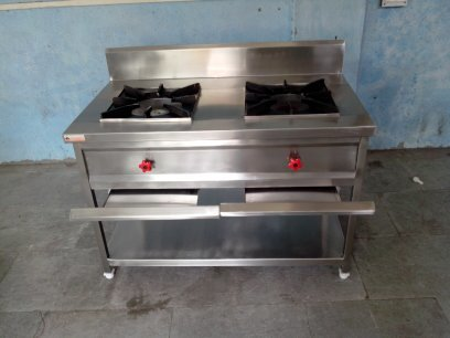 SS Two Burner Gas Range