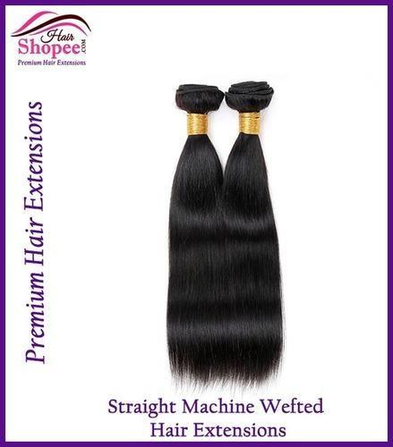 Machine Wefted Straight Hairs - Hairshopee
