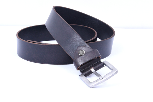 Plain Leather Belt (Black)