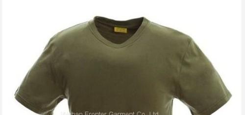 Cotton Khaki Military T Shirt