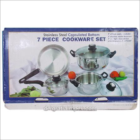 7 Pcs. Capsulated Cookware Set