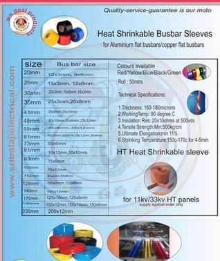 Heat Shrinkable Busbar Sleeves in Hyderabad, Telangana - Sri