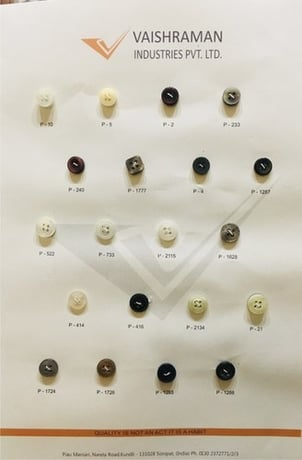 Natural Engraved Shell Buttons