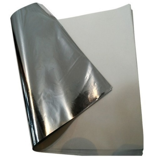 Paper Plate Silver Sheet