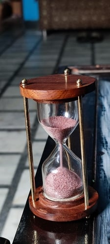 Brass and Wooden 1 Min Sand Timer with Excellent Design