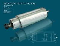 4.5kw Water Cooling Spindle Motor