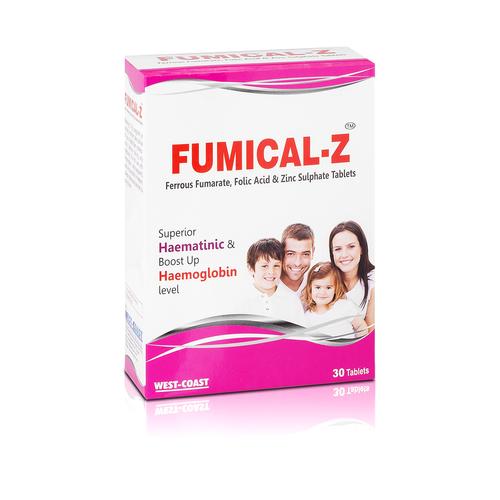 Fumical-Z (Ferrous Fumarate,Folic Acid And Zinc Sulphate Tablets)