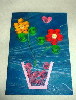 Handmade paper quilled greeting card in pondicherry pondicherry handmade paper quilled seasonal greeting cards m4hsunfo