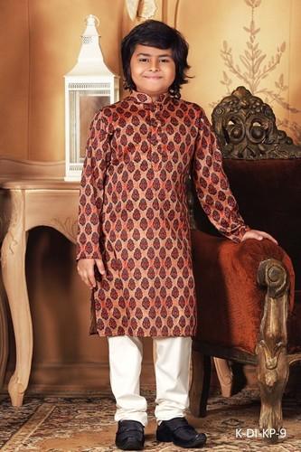 Wedding Wear Kids Kurta Pajama Silk India International