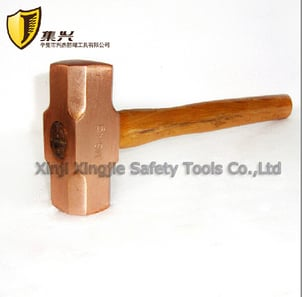 Non Sparking Red Copper Sledge Hammer