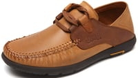 Durable Men's Suede Leather Flat Casual Shoes