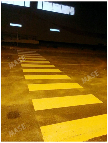 Yellow And Black Median Marking Service