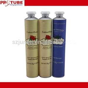 Soft Aluminum Squeeze Cosmetic Packaging Tube